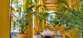 El colorido café de Fendi en Miami propuso un verano psicodélico